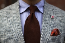 Viola-Milano-brown-shantung-silk-tie