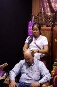 Один из самых странных стендов выставки — компания, занимающаяся тайским массажем