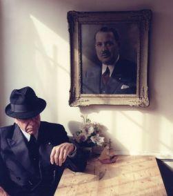 С портретом отца
